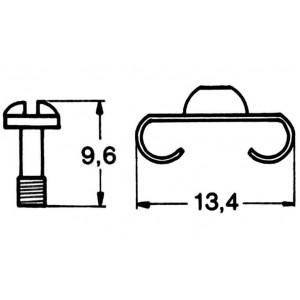 Befestigungs-Schraubenset 4-teilig Schrauben Klammern