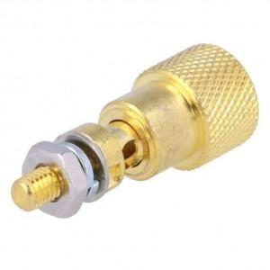 Lautsprecher-Klemme vergoldet Querbuchse 4mm rote Markierung