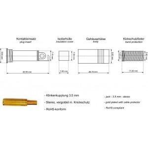 Goobay® Klinkenkupplung 3,5mm Metall stereo