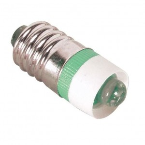 LED-Schraubsockel Birne grün E10 12V