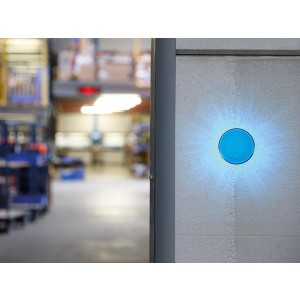 LED Blitzlicht blau 12VDC, Ø77mm, IP20