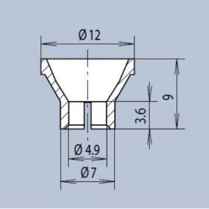 Mentor® Reflektor PC UL94 Oberfläche ist Al-metallisiert