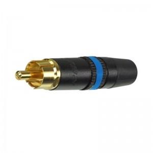 NYS373-6 Rean vergoldeter Cinch-Stecker mit blauer Markierung