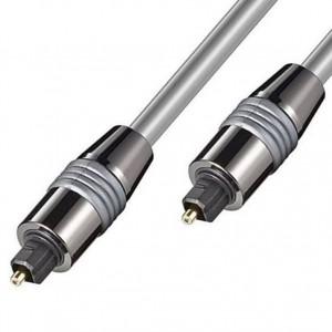 HQ Lichtwellenleiter 1m 2x-Toslinkstecker Metall