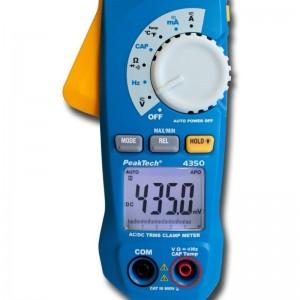 PeakTech® 4350 Stromzangenmessgerät 80A AC/DC 600V