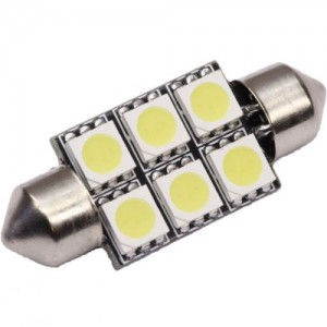 LED-Soffitte Lampe 12V 36mm 6x 5050SMD weiss