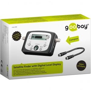 Goobay Satelliten-Finder mit digitaler Pegelanzeige + F-Anschlusskabel
