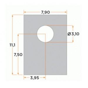Alutronic SI485 Silikonscheibe Wärmeleitfolie SOT32 3,0 K/W Unterlegscheibe 11,1x7,9mm