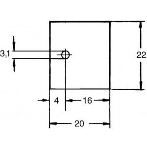 Aavid Kunze KU-CG Silikonscheibe Wärmeleitfolie TO218 1,9W/mK Unterlegscheibe 20x22mm