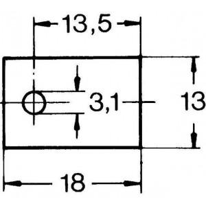 Aavid Kunze KU-CG Silikonscheibe Wärmeleitfolie TO220 1,9W/mK Unterlegscheibe 18x13mm