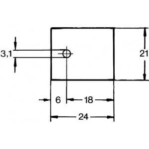 Aavid Kunze KU-CG Silikonscheibe Wärmeleitfolie TOP3 1,9W/mK Unterlegscheibe 24x21mm