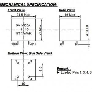 GT SV1-505A Niederfrequenz-Übertrager 1:10 vergossen