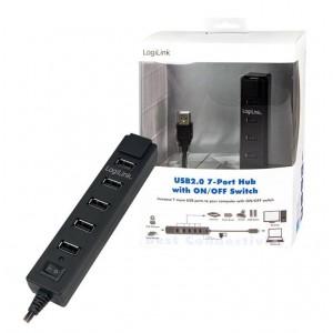 LogiLink® USB 2.0 Hub, 7-Port mit EIN/AUS Schalter