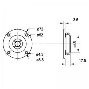 """DTW72/8 Visaton® 110W 8Ω 14mm (0,6"""") Polycarbonatkalotte"""