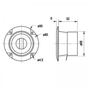Visaton® LC 95 Lautsprecher-Pegelregler