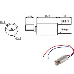 EKULIT Vibrationsmotor VM0610A3.0 3VDC 150mA  10000±2500 U/min