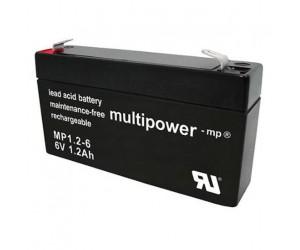 Multipower MP1,2-6 Bleiakku 6V 1,2Ah
