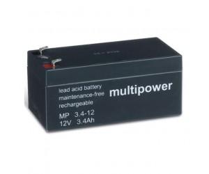 Multipower MP3,4-12 Bleiakku 12V 3,4Ah