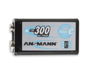 Ansmann NiMH Akku 9V E-Block Typ 300mAh min. 270mAh maxE bei mükra electronic