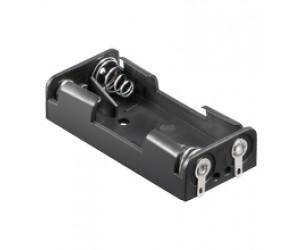 BH-AAA2Lö Batteriehalter mit Lötanschluß 2x Micro AAA