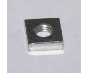 50 Stück Vierkantmutter DIN562 Gleitmutter M3 5,5x5,5x1,5mm flach Stahl verzinkt 1200