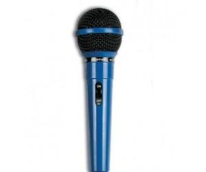 Dynamisches Mikrofon, blau + Klinkenadapter 6,3 auf 3,5mm