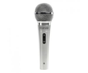 Mikrofon + Kabel XLR-Anschluss Metall Silber DM-500
