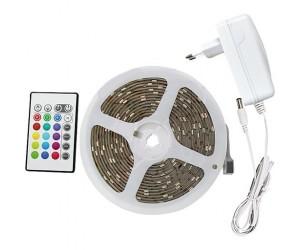 EGB LED RGB Stripe-Set 24W mit Mini-Steuerbox