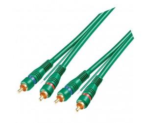 Goobay Cinch-Verbindungskabel 1,5m 2x Cinch-Stecker auf 2x Cinch-Stecker