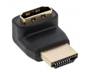 InLine® HDMI™ Adapter, Stecker / Buchse, gewinkelt oben, vergoldete Kontakte, 4K2K kompatibel