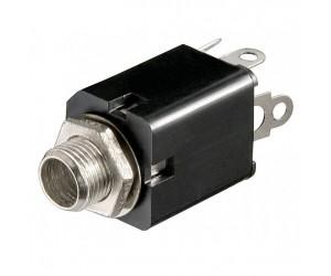 Einbaubuchse stereo mit Schaltkontakt für 6,35mm-Klinkenstecker bei mükra electronic