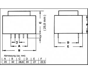 TRAFO1X18V1,6VAPR