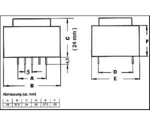 TRAFO1X12V1,5VAPR