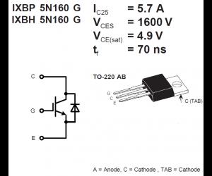 IXBP5N160G bei mükra electronic