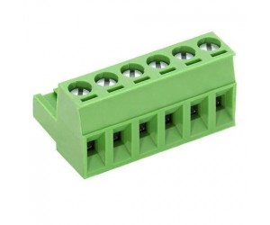 Anschlussklemme 250V 3pol. RM-5mm steckbar grün