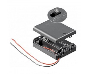BH-AA3GS Batteriehalter 3xAA geschlossen schaltbar wasserabweisend Kabel