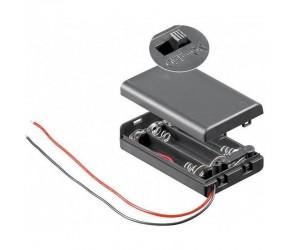 BH-AAA3GS Batteriehalter 3xAAA geschlossen schaltbar wasserabweisend Kabel