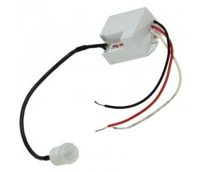 PIR416 Mini-Bewegungsmelder Infrarot 12V zum Einbauen weiss