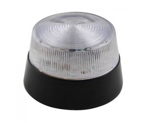 LED Blitzlicht transparent 12VDC, Ø77mm, IP20
