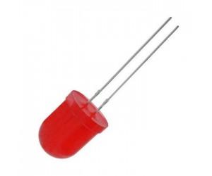 LED 10mm rot 40-150mcd 60° 20mA diffus gewölbt