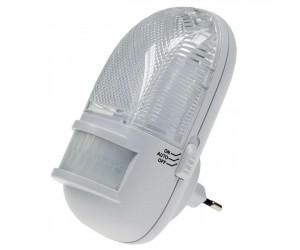 LED-Nachtlicht Bewegungsmelder 230V 0,5W 3LEDs On/Off/Auto