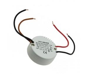 LED-Transformator 230VAC 12VDC 0,5-12W rund
