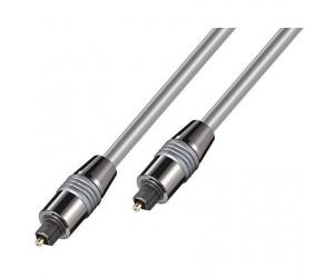 HQ Lichtwellenleiter 2m 2x-Toslinkstecker Metall