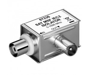 Mantelstromfilter; galvanische Trennung Koaxialstecker > Koaxialkupplung