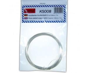 Kemo KS008 Versilberter Kupferdraht Ø ca. 0,8 mm, Länge 7m