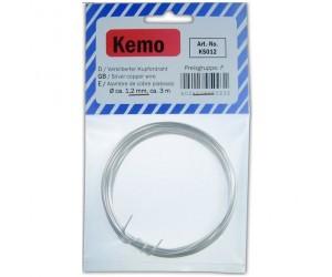 Kemo KS012 Versilberter Kupferdraht Ø ca. 1,2 mm, Länge 3m