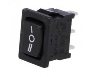 Wippschalter 3-stellig SP3T ON-OFF-ON 10A/250VAC 16A/12VDC schwarz 1808.1103