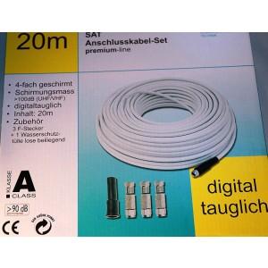 Axing® Koaxialkabel-Set SKB489-20