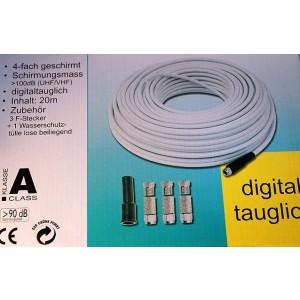 Axing® Koaxialkabel-Set SKB489-40