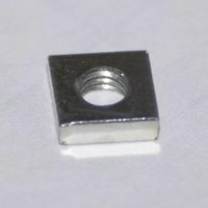 Gleitmutter M3 Vierkant 5,5x5,5x1,5mm flach DIN562 Stahl verzinkt